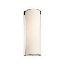 """22"""" One Light Wall Sconce in Polished Nickel"""
