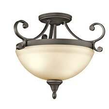 Monroe 2 Light Semi Flush Mount