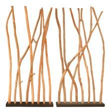 """60"""" x 59"""" Soft Branch Room Divider (Set of 2)"""