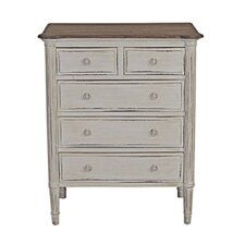 French Isabelle 5 Drawer Chest