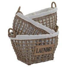 3-Piece Laundry Storage Basket Set