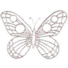 Medium Wire Beaded Butterfly Wall Décor (Set of 2)