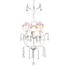 Pear 3 Light Chandelier with Bulb Cover