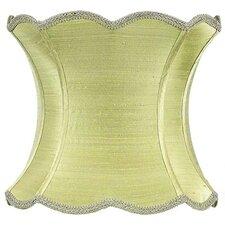 "13"" Dupioni Silk Hourglass Scallop Lamp Shade"