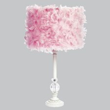 """Feather Glass Ball 27.5"""" H Table Lamp with Drum Shade"""