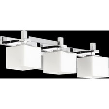 3 Light Square Vanity Light