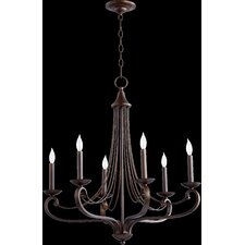 Lariat 6 Light Candle Chandelier
