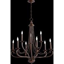 Lariat 9 Light Candle Chandelier