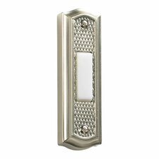 Zinc Door Chime Button in Satin Nickel