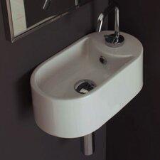 Seventy Wall Mounted Single Hole Bathroom Sink