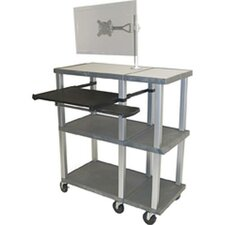Tuffy 70 Series Open Shelf Presentation Station with Monitor Mount