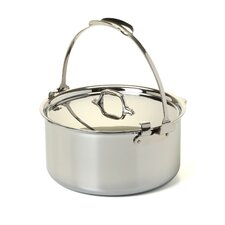 Stainless Steel 8 Qt. Pouring Stock Pot with Lid