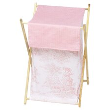 Pink Toile Laundry Hamper