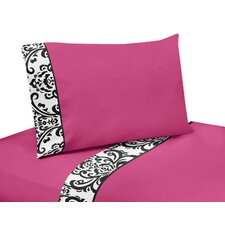 Isabella Hot Pink, Black and White Sheet Set