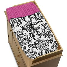 Isabella Hot Pink, Black and White Collection Changing Pad Cover