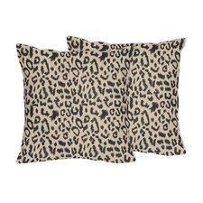 Animal Safari Microsuede Throw Pillow (Set of 2)