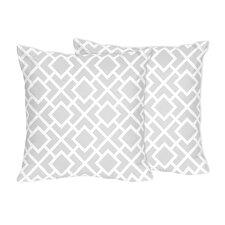 Diamond Cotton Throw Pillow (Set of 2)