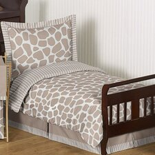 Giraffe 5 Piece Toddler Bedding Set