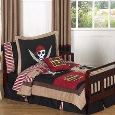 Pirate Treasure Cove 5 Piece Toddler Bedding Set