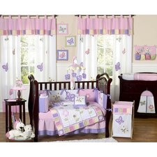 Butterfly 9 Piece Crib Bedding Set