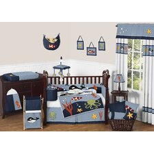 Ocean Blue 9 Piece Crib Bedding Set