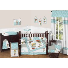 Balloon Buddies 9 Piece Crib Bedding Set