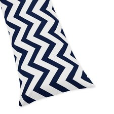 Navy Blue and White Chevron Body Pillow Case