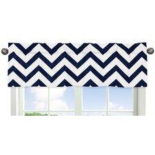 Navy Blue and White Chevron Curtain Valance