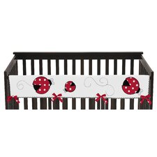 Polka Dot Ladybug Long Crib Rail Guard Cover