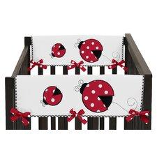 Polka Dot Ladybug Side Crib Rail Guard Cover (Set of 2)