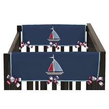 Nautical Nights Side Crib Rail Guard Cover (Set of 2)