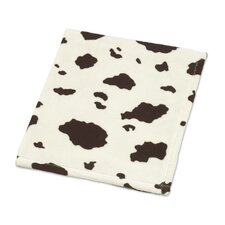 Cowgirl Cow Plush Baby Blanket