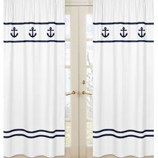 Anchors Away Window Treatment Panel (Set of 2)