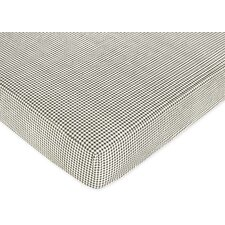 French Toile Plaid Fitted Crib Sheet