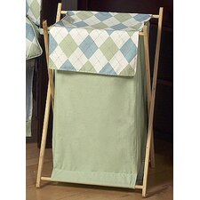 Argyle Green Blue Laundry Hamper