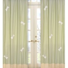 Green Dragonfly Dreams Curtain Panels (Set of 2)
