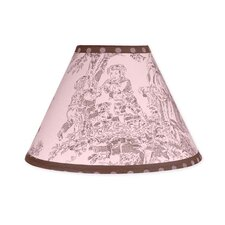 """10"""" Pink and Brown Toile Empire Lamp Shade"""