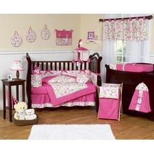 Circles Pink 9 Piece Crib Bedding Set