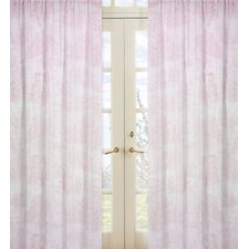 Pink Toile Cotton Curtain Panel (Set of 2)
