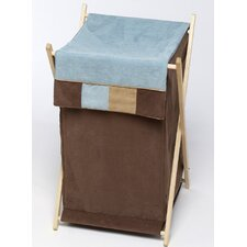 Soho Blue and Brown Laundry Hamper