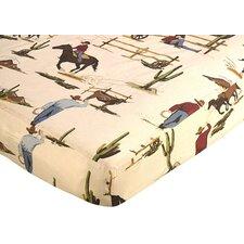 Wild West Cowboy Fitted Crib Sheet