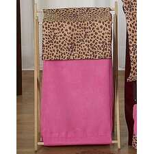 Cheetah Pink Laundry Hamper