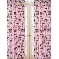 Cowgirl Print Cotton Curtain Panels (Set of 2)