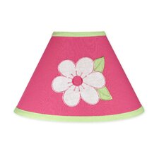 "10"" Flower Pink and Green Cotton Empire Lamp Shade"