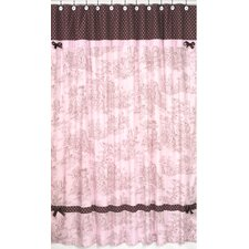 Pink and Brown Toile Cotton Shower Curtain
