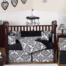 Isabella Black and White 9 Piece Crib Bedding Set