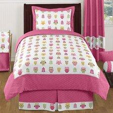 Happy Owl 4 Piece Twin Bedding Set