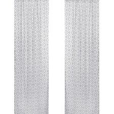 Diamond Window Curtain Panel (Set of 2)