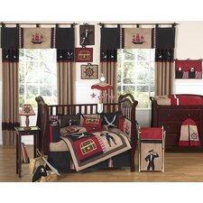 Pirate Treasure Cove 9 Piece Crib Bedding Set