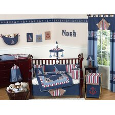 Nautical Nights 9 Piece Crib Bedding Set